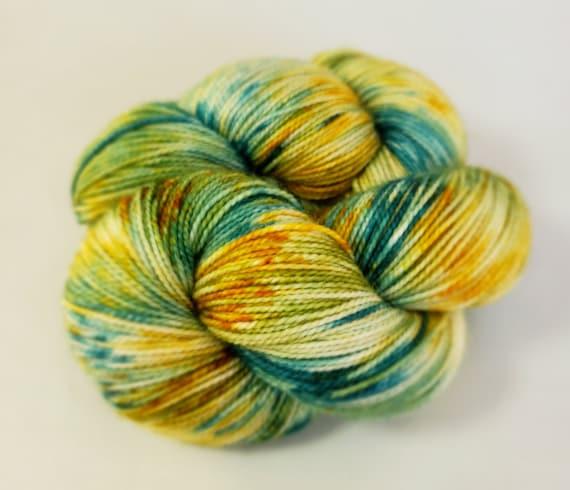 Hand Dyed Yarn/Superwash merino/nylon/Sock Yarn/Light My Fire - DYED TO ORDER