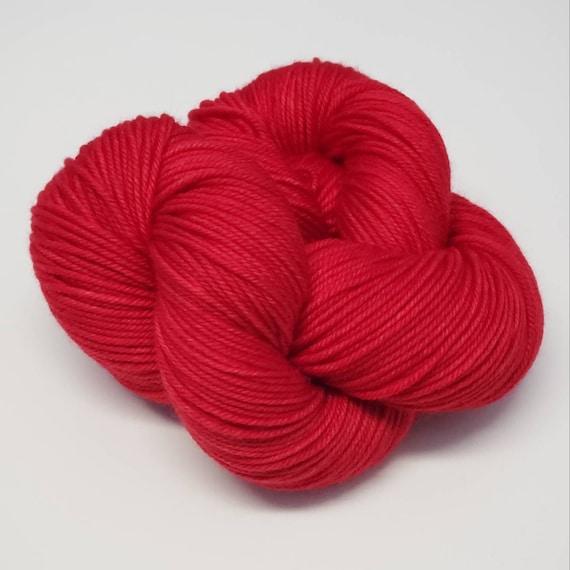 Hand Dyed Yarn/Superwash merino/DK /Rhubarb- Dyed to Order