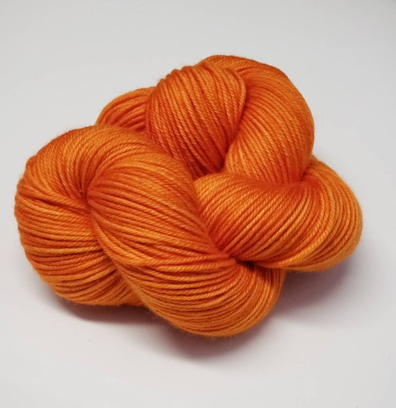 Hand Dyed Yarn/Superwash merino/DK /Saffron- Dyed to Order