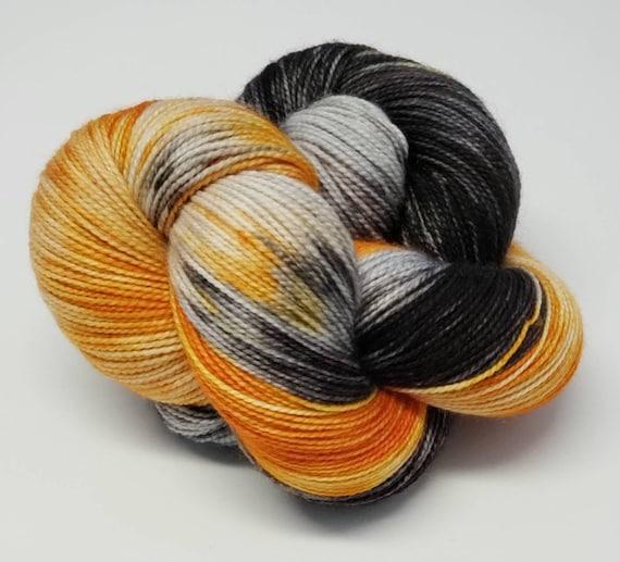 Hand Dyed Yarn/Superwash merino/nylon/Sock Yarn/Tricky Treats - DYED TO ORDER