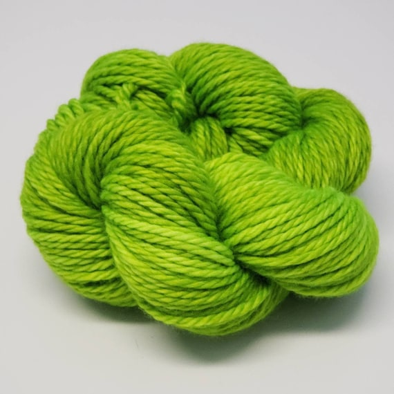 Hand Dyed Yarn/Superwash merino/Bulky /Toxic- Dyed to Order