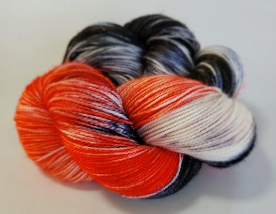 Hand Dyed Yarn/Superwash merino/nylon/Sock Yarn/Abracadabra - DYED TO ORDER