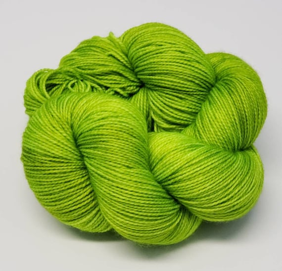 Hand Dyed Yarn/Superwash merino/nylon/Sock Yarn/Toxic- DYED TO ORDER