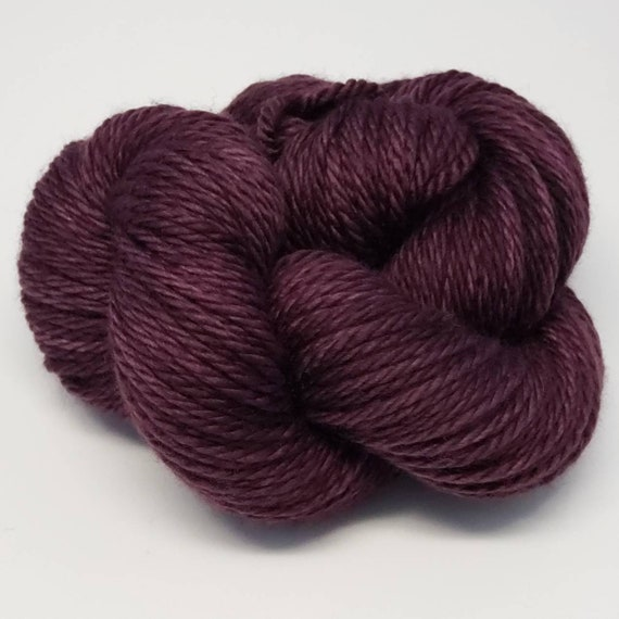 Hand Dyed Yarn/Superwash merino/Bulky /Sultry- Dyed to Order