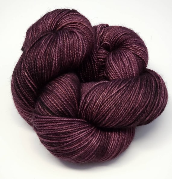 Hand Dyed Yarn/Superwash merino/nylon/Sock Yarn/Sultry- DYED TO ORDER