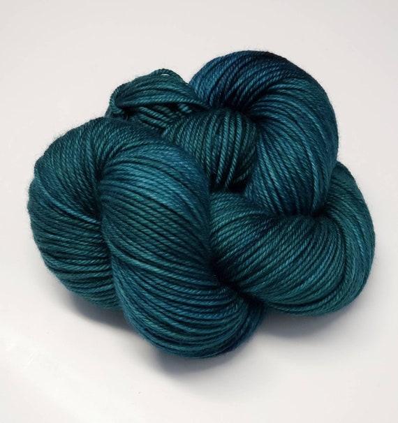 Hand Dyed Yarn/Superwash merino/DK /Myrtle- Dyed to Order