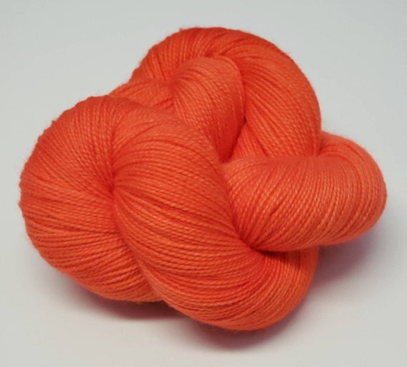 Hand Dyed Yarn/Superwash merino/nylon/Sock Yarn/Heirloom Tomato - DYED TO ORDER