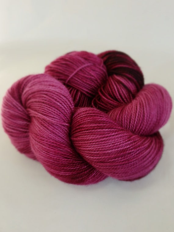 Hand Dyed Yarn/Superwash merino/nylon/Sock Yarn/Cranberry - DYED TO ORDER