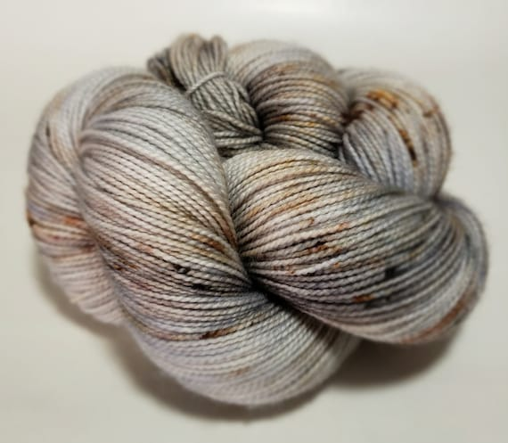 Hand Dyed Yarn/Superwash merino/nylon/Sock Yarn/The Birch Tree - DYED TO ORDER