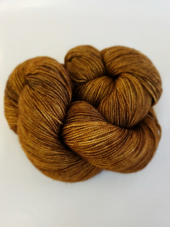Hand Dyed Yarn/Superwash merino/nylon/Sock Yarn/Coffee Shop - DYED TO ORDER
