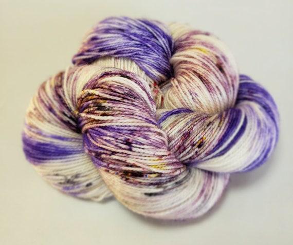 Hand Dyed Yarn/Superwash merino/nylon/Sock Yarn/Clematis - DYED TO ORDER