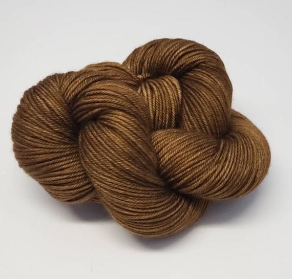 Hand Dyed Yarn/Superwash merino/DK /Coffee Shop- Dyed to Order