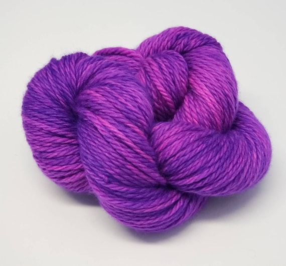 Hand Dyed Yarn/Superwash merino/Bulky /Grape Gobstopper- Dyed to Order