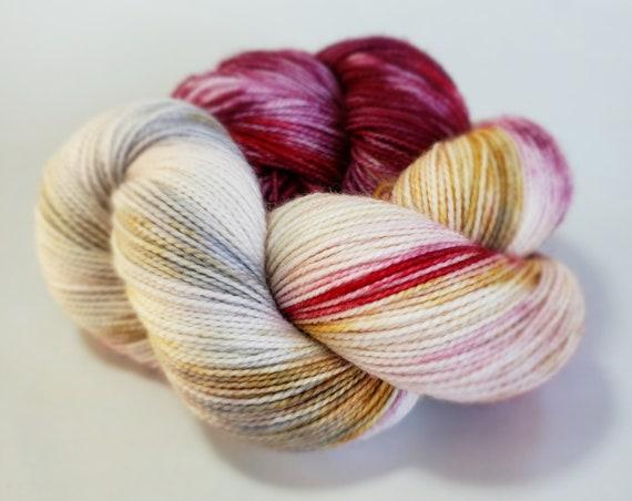 Hand Dyed Yarn/Superwash merino/nylon/Sock Yarn/Love Story - DYED TO ORDER