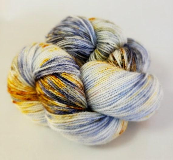 Hand Dyed Yarn/Superwash merino/nylon/Sock Yarn/Bad Moon Rising - DYED TO ORDER