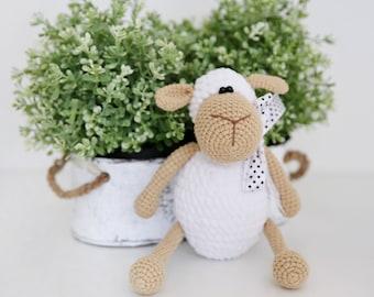 white sheep plush sheep crochet sheep handmade sheep sheep stuffed animals sheep amigurumi stuffed toys cute sheep lamb baby shower gift