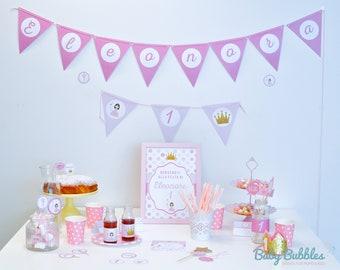 Birthday Party kit Digital princess-Princess birthday Party Kit Digital