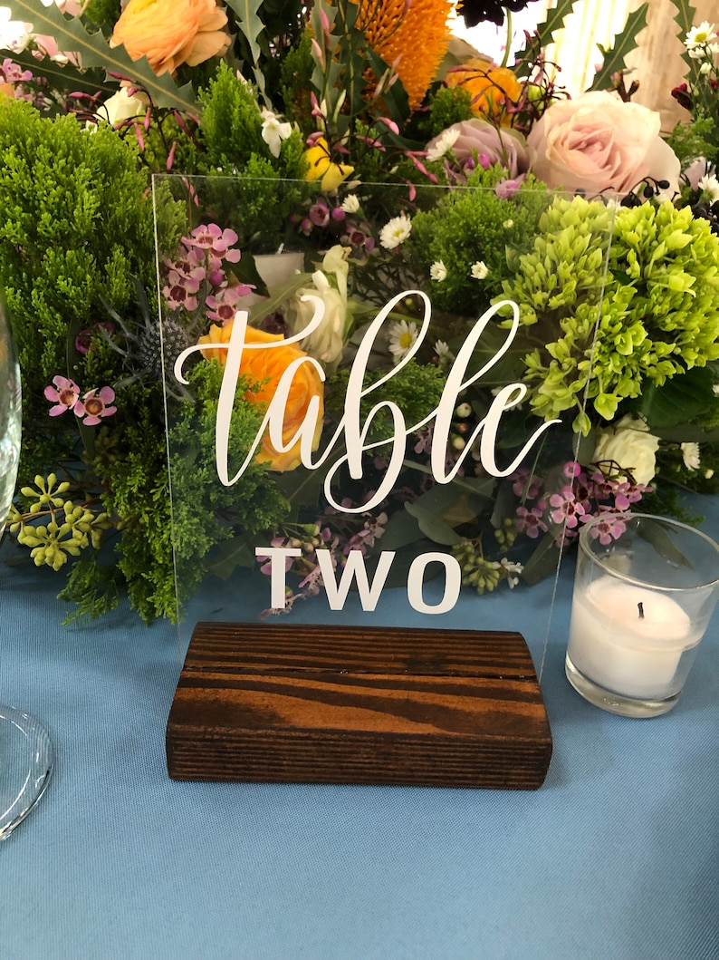Custom Acrylic Signs | Acrylic Sign | Acrylic Signage | Wedding Table  Number | Custom Acrylic | Acrylic Table Numbers
