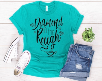 5fb6f91d A diamond in the rough shirt, Disney shirt for women, aladdin shirt, Disney  Princess shirt, Jasmine shirt for women