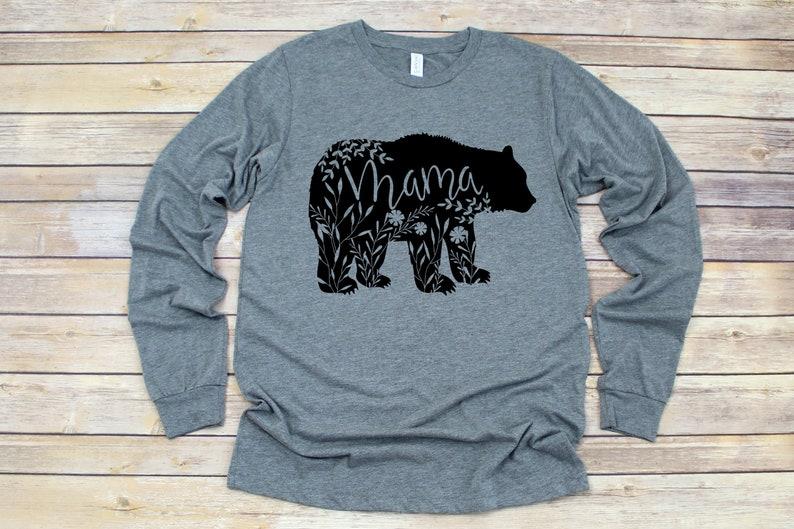 large discount enjoy best price new varieties Mama bear long sleeve shirt, floral mama bear shirt, momma bear shirt, mama  bear t-shirt, mama bear tee