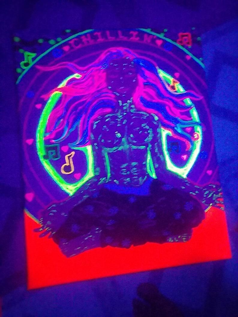 Acyrlic Blacklight Painting Be A Body