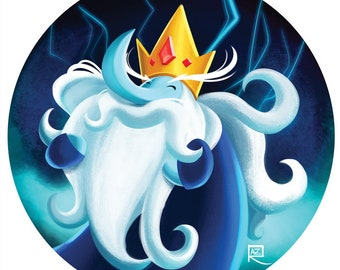 Adventure Time Ice King - Small print