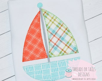 Sailboat applique etsy