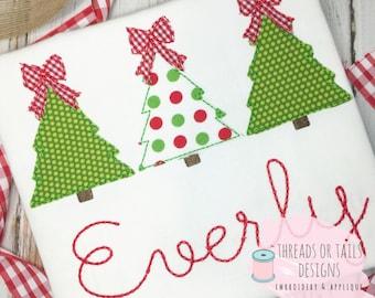 bean stitch christmas tree applique christmas tree applique design tree design tree applique christmas applique woodland trees - Christmas Applique Designs