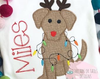 christmas dog applique christmas dog zz applique design dog christmas applique dog zig zag applique christmas dog design christmas - Christmas Applique Designs