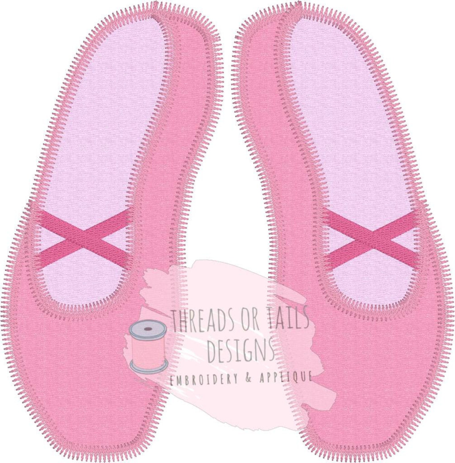ballet shoes applique - ballerina shoes applique - pointe shoes design - ballet applique - ballet shoes design