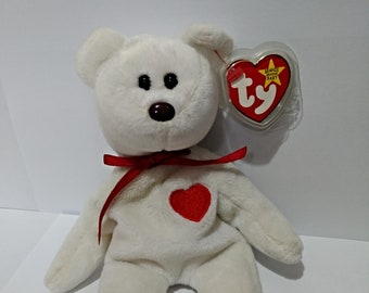 Valentino TY Beanie Baby - Rare with tag errors and of center stitching - PVC pellets.