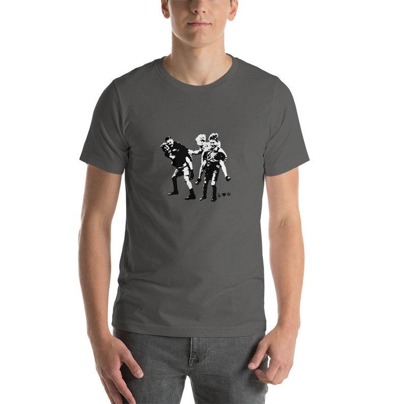 2ff2739d7 Mens Tshirt Art Printed Black and White Tee Artist Print | Etsy
