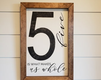 Family Number Sign | Collage Sign | Photo Wall Sign | Wood Framed Sign | Framed Farmhouse Sign | Wall Sign | Wall Decor