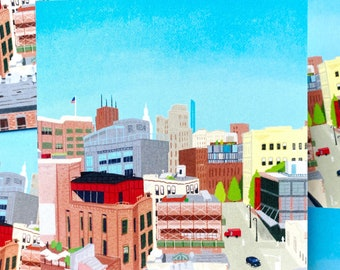 NYC Vibe - Illustration Postcard - Pack of 5 - New York City - Chelsea