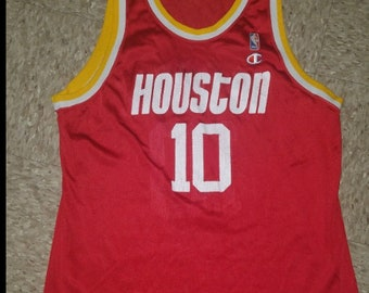 Sam Cassell Houston Rockets Vintage Champion Jersey Size 48 Xl 695751f3d