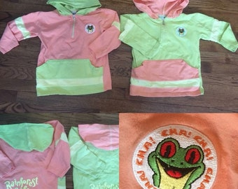 5248d5e6ef6d Vintage Rainforest Cafe hooded shirts Twins! Siblings! Brothers! Sisters!