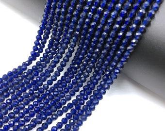 Gemstone Beads 4mm Quartz Beads Made to Imitate Sapphire Jewelry Making Supplies