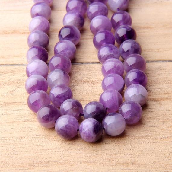 Pcs Frosted  Gemstones DIY Jewellery Making Amethyst Round Beads 6mm Purple 60