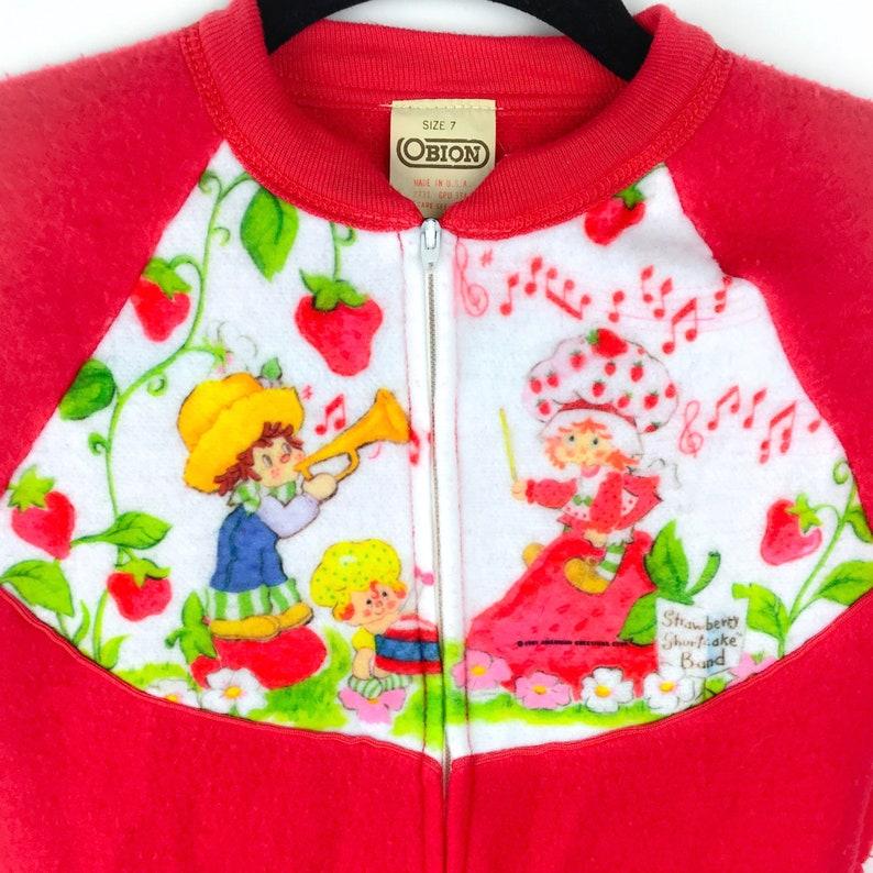 c921db638 Vintage Kids' Strawberry Shortcake Pajamas Vintage | Etsy