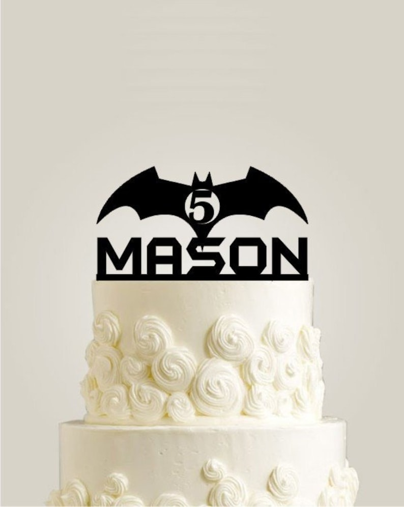Groovy Batman Cake Topper Personalized Birthday Cake Topper Gold Etsy Personalised Birthday Cards Paralily Jamesorg