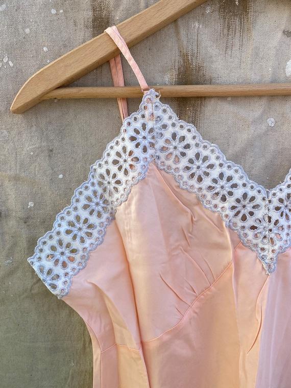 1940s Rayon Pink Slip Dress - image 3