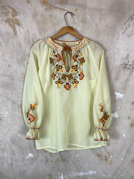 1970s Hungarian Blouse