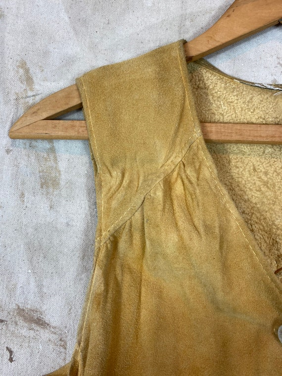 1970s Suede Leather Two Piece Set - image 4