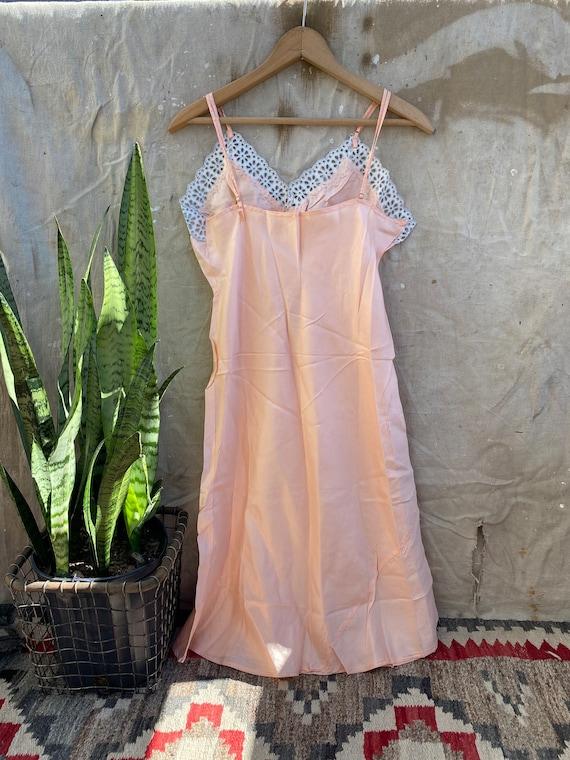 1940s Rayon Pink Slip Dress - image 5