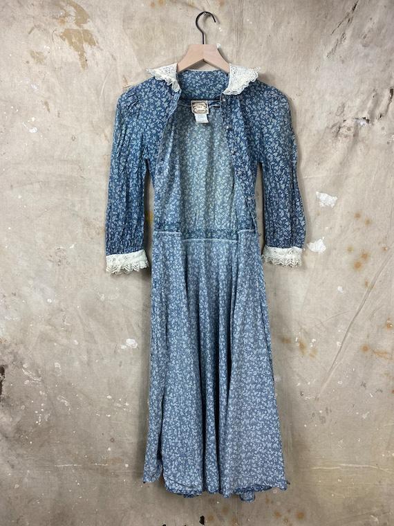 Vintage 1970s Gunne Sax Calico Antique Style Dress - image 4