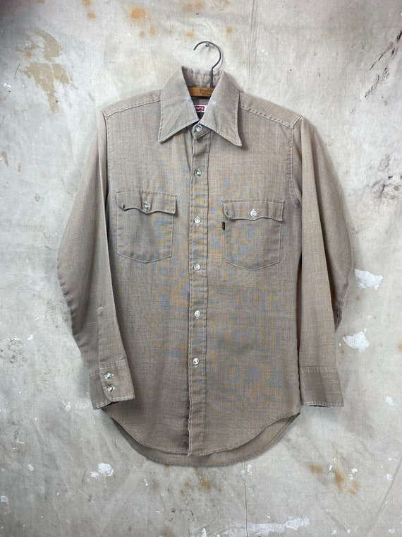 Rare Vintage 1960s Big E Levis Button Up