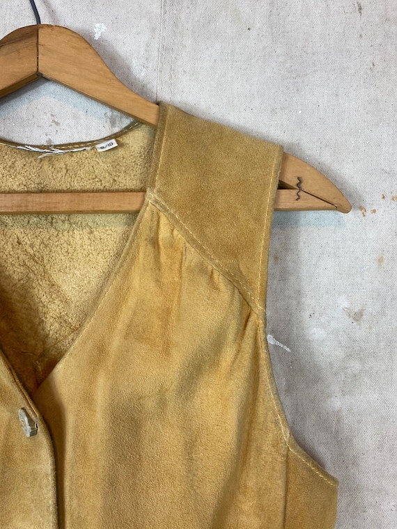 1970s Suede Leather Two Piece Set - image 3