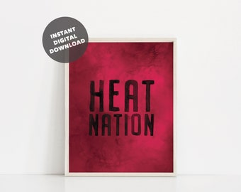 901b0ebbf Watercolor Miami Heat Printable Poster