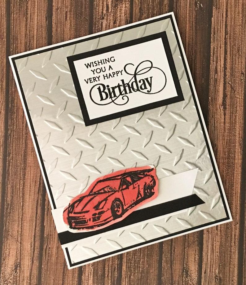 Sports Car Birthday Card Masculine