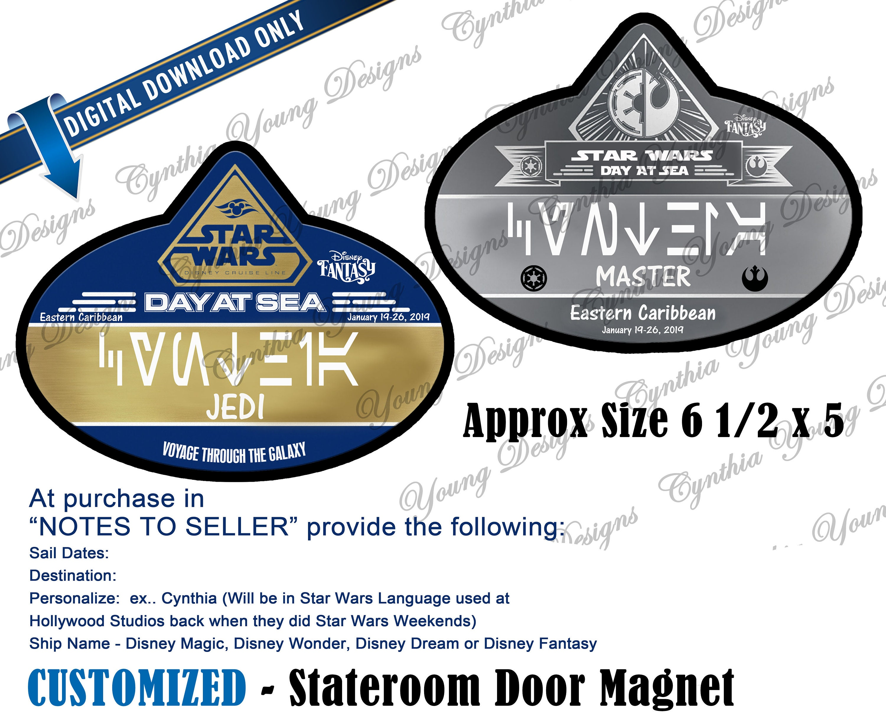 Stateroom Door Magnet Star Wars Day At Sea Name Tag Design